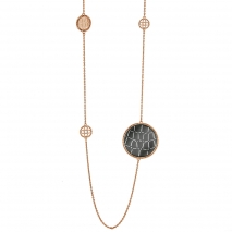 Oxette κολιέ 01X27-00274 από ανοξείδωτο ατσάλι (Stainless Steel) με Ion Plated Rose Gold.