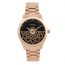 Oxette ρολόι 11X05-00478 από ανοξείδωτο ατσάλι με ροζ χρυσή επιμετάλλωση στην κάσα και μπρασελέ.