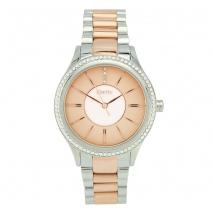 Oxette ρολόι 11X05-00480 από ανοξείδωτο ατσάλι με ασημί και ροζ χρυσή επιμετάλλωση στην κάσα και μπρασελέ.