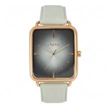 Oxette ρολόι 11X65-00195 από ανοξείδωτο ατσάλι με ροζ χρυσή επιμετάλλωση στην κάσα και δερμάτινο λουράκι.