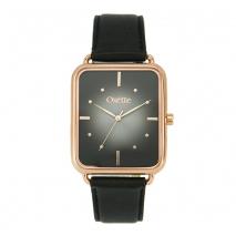 Oxette ρολόι 11X65-00196 από ανοξείδωτο ατσάλι με ροζ χρυσή επιμετάλλωση στην κάσα και δερμάτινο λουράκι.