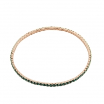 Loisir βραχιόλι 02L15-00442 από ροζ ορείχαλκο με ημιπολύτιμες πέτρες (Κρύσταλλοι Quartz)