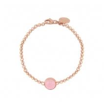 Loisir βραχιόλι 02L15-00516 από ροζ ορείχαλκο με ημιπολύτιμες πέτρες (Κρύσταλλοι Quartz)