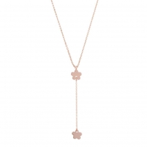 Loisir κολιέ 01L05-01367 λουλούδι από ροζ επιχρυσωμένο ασήμι 925ο