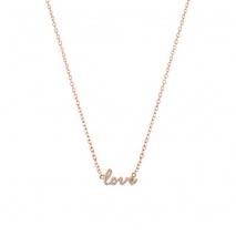 Loisir κολιέ 01L15-00492 Love από ροζ ορείχαλκο με ημιπολύτιμες πέτρες (Κρύσταλλοι Quartz)