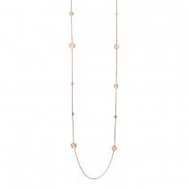 Loisir κολιέ 01L27-00617 σταυρός από ανοξείδωτο ατσάλι (Stainless Steel) με ημιπολύτιμες πέτρες (Κρύσταλλοι Quartz) και Ion Plated Rose Gold