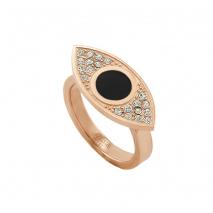 Loisir δαχτυλίδι 04L27-00682 μάτι από ανοξείδωτο ατσάλι (Stainless Steel) με ημιπολύτιμες πέτρες (Κρύσταλλοι Quartz και Σμάλτο) και Ion Plated Rose Gold