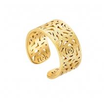 Loisir δαχτυλίδι 04L27-00703 λουλούδι από ανοξείδωτο ατσάλι (Stainless Steel) με Ion Plated Gold