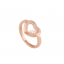 Loisir δαχτυλίδι 04L27-00716 καρδιά από ανοξείδωτο ατσάλι (Stainless Steel) με ημιπολύτιμες πέτρες (Κρύσταλλοι Quartz) και Ion Plated Rose Gold