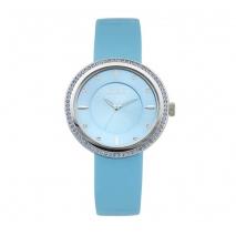 Loisir ρολόι 11L06-00384 με ασημί μεταλλική κάσα και δερμάτινο λουράκι