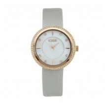 Loisir ρολόι 11L65-00137 με ροζ χρυσή μεταλλική κάσα και δερμάτινο λουράκι