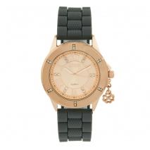 Loisir ρολόι 11L75-00255 με ροζ χρυσή μεταλλική κάσα και λουράκι από καουτσούκ.