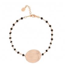 Oxette βραχιόλι 02X05-01648 από ροζ επιχρυσωμένο ασήμι 925ο με ημιπολύτιμες πέτρες (Κρύσταλλοι Quartz)