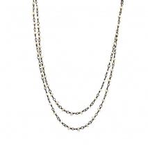 Oxette κολιέ 01X01-04494 από επιπλατινωμένο ασήμι 925ο με ημιπολύτιμες πέτρες (Πέρλες)