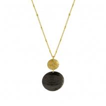 Oxette κολιέ 01X05-02081 από επιχρυσωμένο ασήμι 925ο