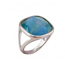 Oxette δαχτυλίδι 04X15-00035 από ασημί ορείχαλκο με ημιπολύτιμες πέτρες (Κρύσταλλοι Quartz)