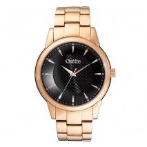 Oxette ρολόι 11X05-00452 από ανοξείδωτο ατσάλι με ροζ χρυσή επιμετάλλωση στην κάσα και μπρασελέ