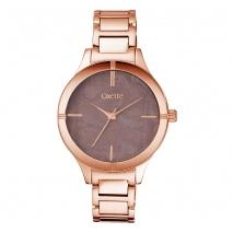 Oxette ρολόι 11X05-00500 από ανοξείδωτο ατσάλι με ροζ χρυσή επιμετάλλωση στην κάσα και μπρασελέ