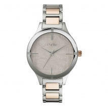 Oxette Stainless Steel Watch 11X05-00502 with silver and rose gold case and bracelet