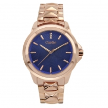 Oxette Stainless Steel Watch 11X05-00508 with rose gold case and bracelet