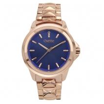 Oxette ρολόι 11X05-00508 από ανοξείδωτο ατσάλι με ροζ χρυσή επιμετάλλωση στην κάσα και μπρασελέ