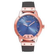 Oxette ρολόι 11X75-00243 από ανοξείδωτο ατσάλι με ροζ χρυσή επιμετάλλωση στην κάσα και λουράκι σιλικόνης