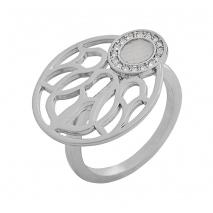 Visetti δαχτυλίδι AJ-WRG093 από ορείχαλκο με ημιπολύτιμες πέτρες (Κρύσταλλοι Quartz)