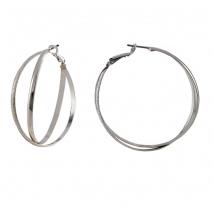 Loisir σκουλαρίκια κρίκοι 03L15-00218 από ασημί ορείχαλκο