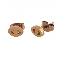 Loisir σκουλαρίκια 03L27-00505 ματάκι από ροζ χρυσό ανοξείδωτο ατσάλι (stainless steel)