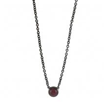 Loisir κολιέ 01L15-00500 από μαύρο ορείχαλκο με ημιπολύτιμες πέτρες (Κρύσταλλοι Quartz)