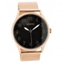 OOZOO Timepieces C9519 γυναικείο ρολόι με ροζ χρυσή μεταλλική κάσα και μπρασελέ