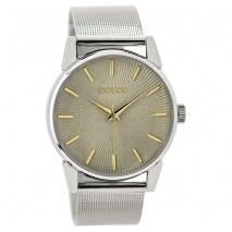 OOZOO Timepieces C9545 γυναικείο ρολόι με ασημί μεταλλική κάσα και μπρασελέ