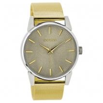 OOZOO Timepieces C9546 γυναικείο ρολόι με ασημί μεταλλική κάσα και χρυσό μπρασελέ