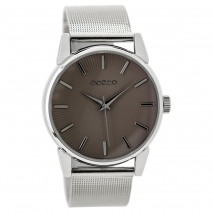 OOZOO Timepieces C9549 γυναικείο ρολόι με ασημί μεταλλική κάσα και μπρασελέ