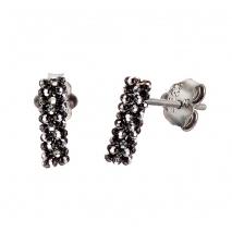Oxette σκουλαρίκια 03X01-02585 από επιπλατινωμένο ασήμι 925ο