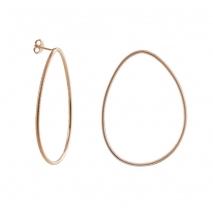 Oxette σκουλαρίκια 03X05-01878 κρίκοι από ροζ επιχρυσωμένο ασήμι 925ο
