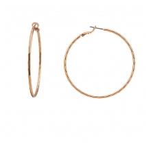 Oxette σκουλαρίκια 03X15-00064 κρίκοι από ροζ ορείχαλκο