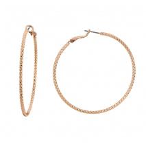 Oxette σκουλαρίκια 03X15-00066 κρίκοι από ροζ ορείχαλκο