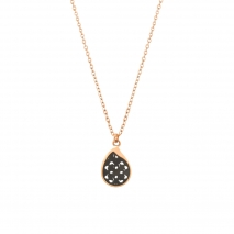 Oxette κολιέ 01X27-00309 από ανοξείδωτο ατσάλι (Stainless Steel) με Ion Plated Rose Gold και Black