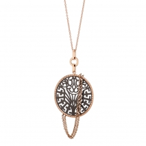 Oxette κολιέ 01X27-00310 από ανοξείδωτο ατσάλι (Stainless Steel) με Ion Plated Rose Gold και Black