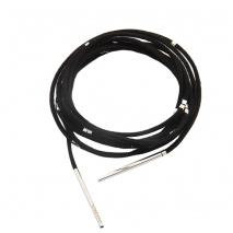 Oxette μαύρο suede κορδόνι 12X15-00003 με ασημί μεταλλικά στοιχεία μήκους 160 cm