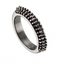 Oxette δαχτυλίδι 04X01-03510 από επιπλατινωμένο ασήμι 925ο