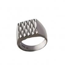 Oxette δαχτυλίδι 04X01-03513 από σκούρο γκρι επιπλατινωμένο ασήμι 925ο