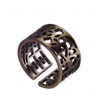 Oxette δαχτυλίδι 04X03-00151 από ανοξείδωτο ατσάλι (Stainless Steel) με Ion Plated Black