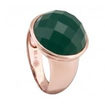 Oxette δαχτυλίδι 04X05-01274 από ροζ επιχρυσωμένο ασήμι 925ο με ημιπολύτιμες πέτρες (Κρύσταλλοι Quartz)