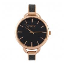 Oxette ρολόι 11X05-00485 από ανοξείδωτο ατσάλι με ροζ χρυσή επιμετάλλωση στην κάσα και μπρασελέ