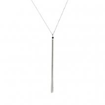 Loisir κολιέ 01L03-00473 μακρύ από ανοξείδωτο ατσάλι (Stainless Steel) με ημιπολύτιμες πέτρες (κρύσταλλοι quartz)