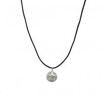 Loisir κολιέ 01L03-00483 αστέρι από ανοξείδωτο ατσάλι (Stainless Steel) με ημιπολύτιμες πέτρες (κρύσταλλοι quartz)