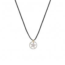 Loisir κολιέ 01L03-00491 αστέρι από ανοξείδωτο ατσάλι (Stainless Steel) με ημιπολύτιμες πέτρες (κρύσταλλοι quartz)