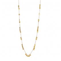 Loisir κολιέ 01L27-00699 από χρυσό ανοξείδωτο ατσάλι (Stainless Steel) με μικρά στρογγυλά στοιχεία